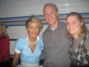 Julianne Hough Backstage at Dancing with the Stars Finale