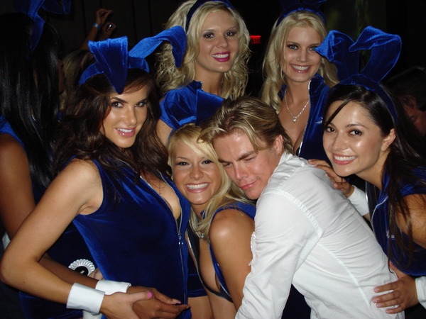 Derek Hough and the bunnies