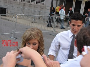 CMT Awards Red Carpet Shawn Johnson and Mark Ballas 2