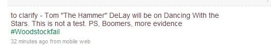 tom delay twitter