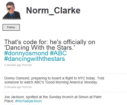 Norm Clarke Twitter