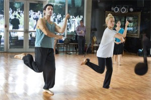 Gilles Marini and Peta Murgatroyd practicing Bollywood