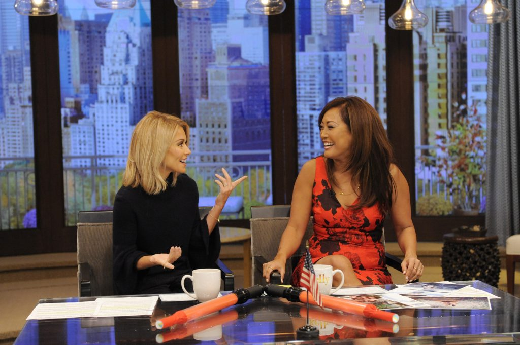 "Kelly Ripa and Carrie Ann Inaba are pictured during the production of ""LIVE Kelly"" in New York on Thursday, October 13, 2016. Photo: Pawel Kaminski - Disney/ABC Home Entertainment and TV Distribution  ©2016 Disney ABC. All Rights Reserved."