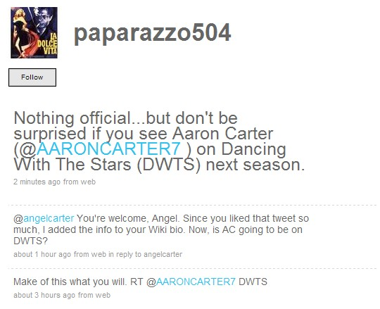 Aaron Carter Tweets