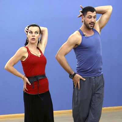 Debi Mazar and Maks