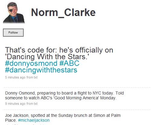 Norm Clarke Twitter