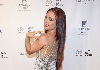 31473fa43 Last night, Dancing With The Stars pro Sharna Burgess attended the West  Coast Liberty Awards celebrating Lambda Legal's 40th Anniversary at ...