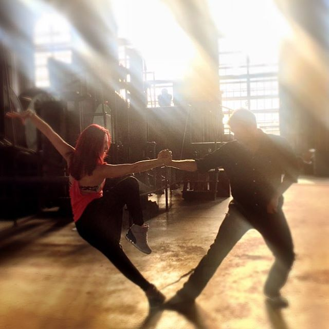 Nick Carter And Sharna burgess DWTS Rehearsals In Montana