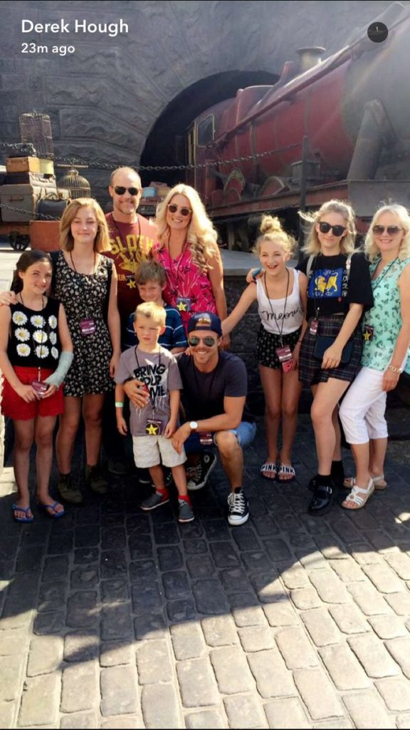 Derek Hough and Family at Universal Studios by Jennie