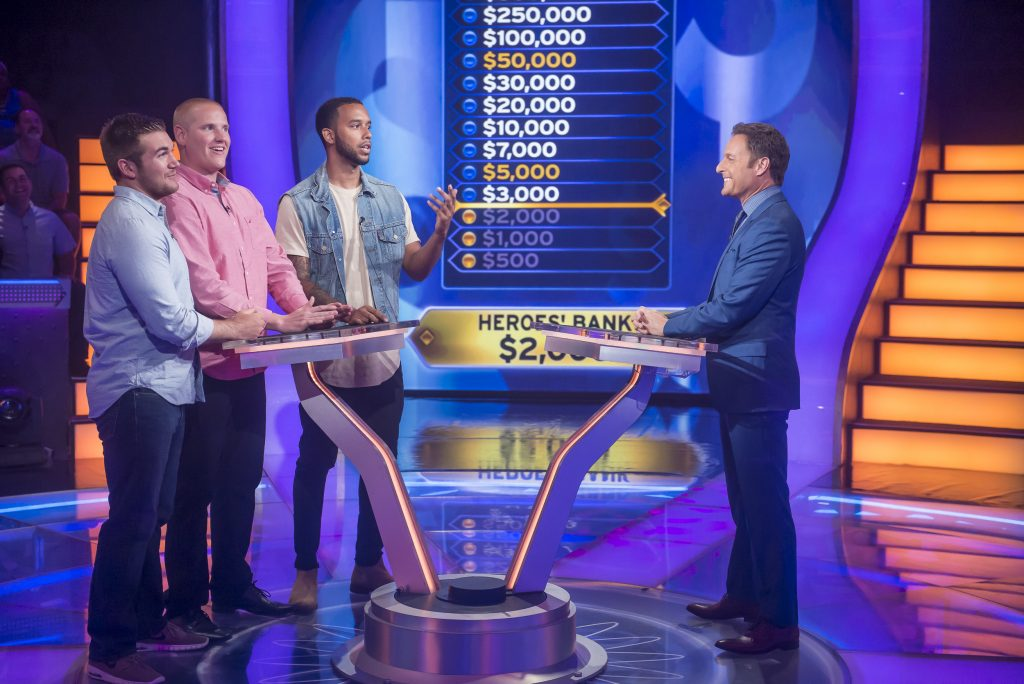 "A photo from the production of ""Who Wants To Be A Millionaire"" on July 22, 2016, in Las Vegas, Nevada."